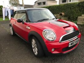07 Mini Cooper S . Mot july18. FSH. Drives lovely. Central locking.Electric windows. 6 speed