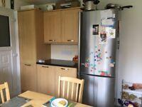 Beech veneer kitchen units for sale - excellent condition