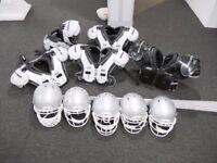 5 x American Football Kit - Helmet & Shoulder Pads (NFL)