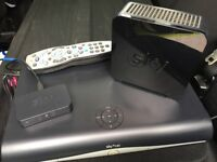 Sky box, router and remote for sale