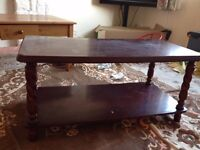 solid wood coffee table cheap good condition