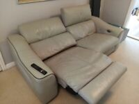 Grey Leather sofa and chair