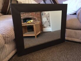 @@LARGE FAUX LEATHER MIRROR@@