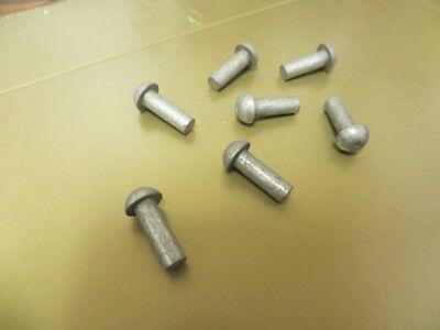 316 X 916 Round Head Solid Steel Blacksmith Rivets Zinc Plated 50 Pcs. U.s.a