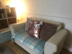 3 piece leather sofa set. Lots of life left in them