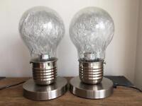 Dwell Light Bulb Side Lights - 11inch tall - £100 new