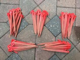Tent awning pegs