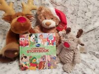 Christmas Themed Soft Toys & Disney Christmas Storybook Collection