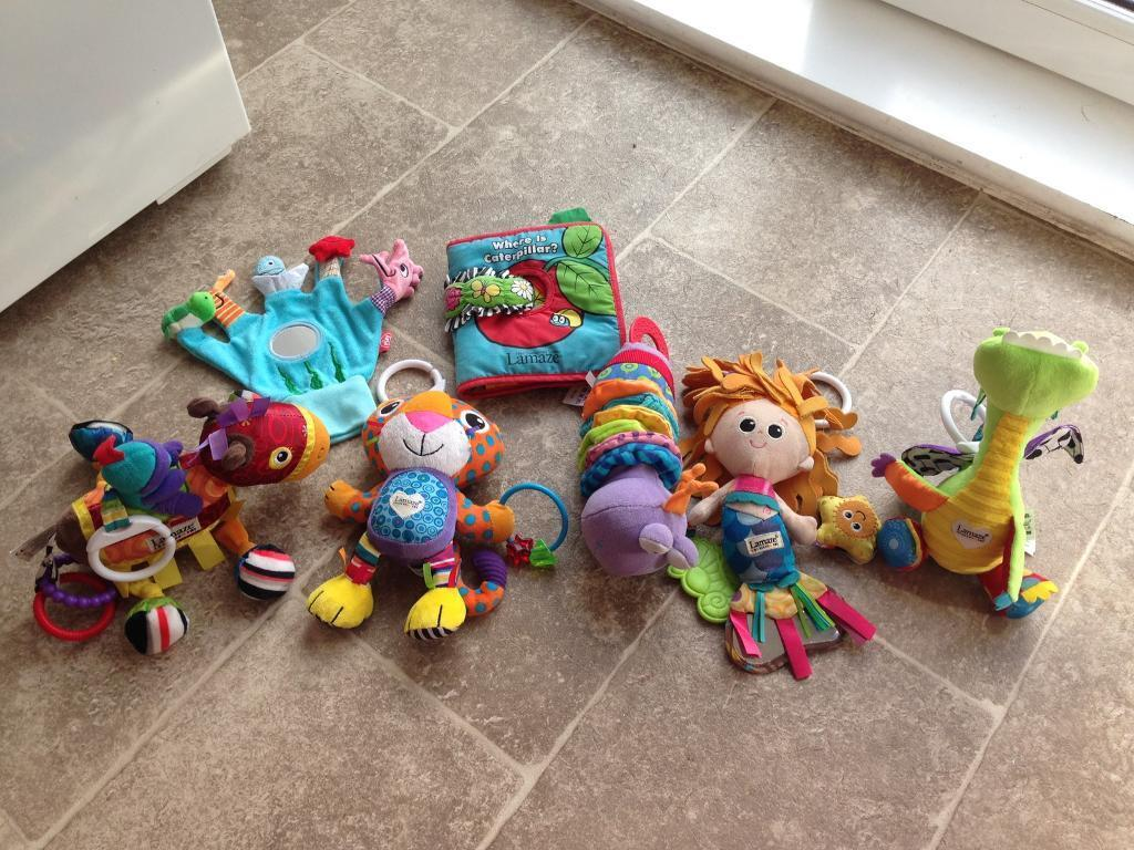 Lamaze baby toy selection with a few other toys
