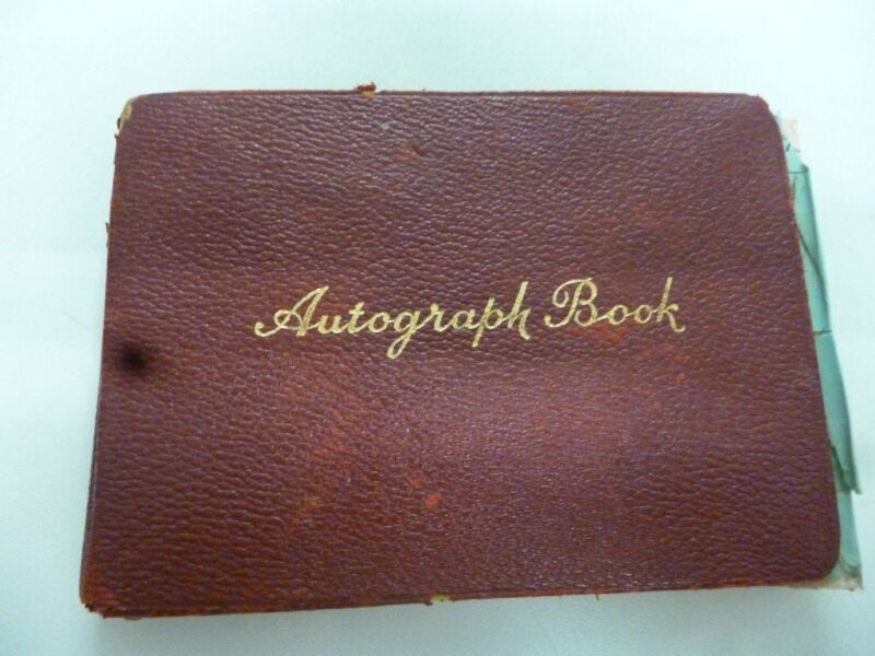 autograph book.motor racing and football,50s & 60s., used for sale  Exeter, Devon