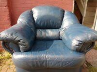 Shelves + Leather Sofa Arm chair