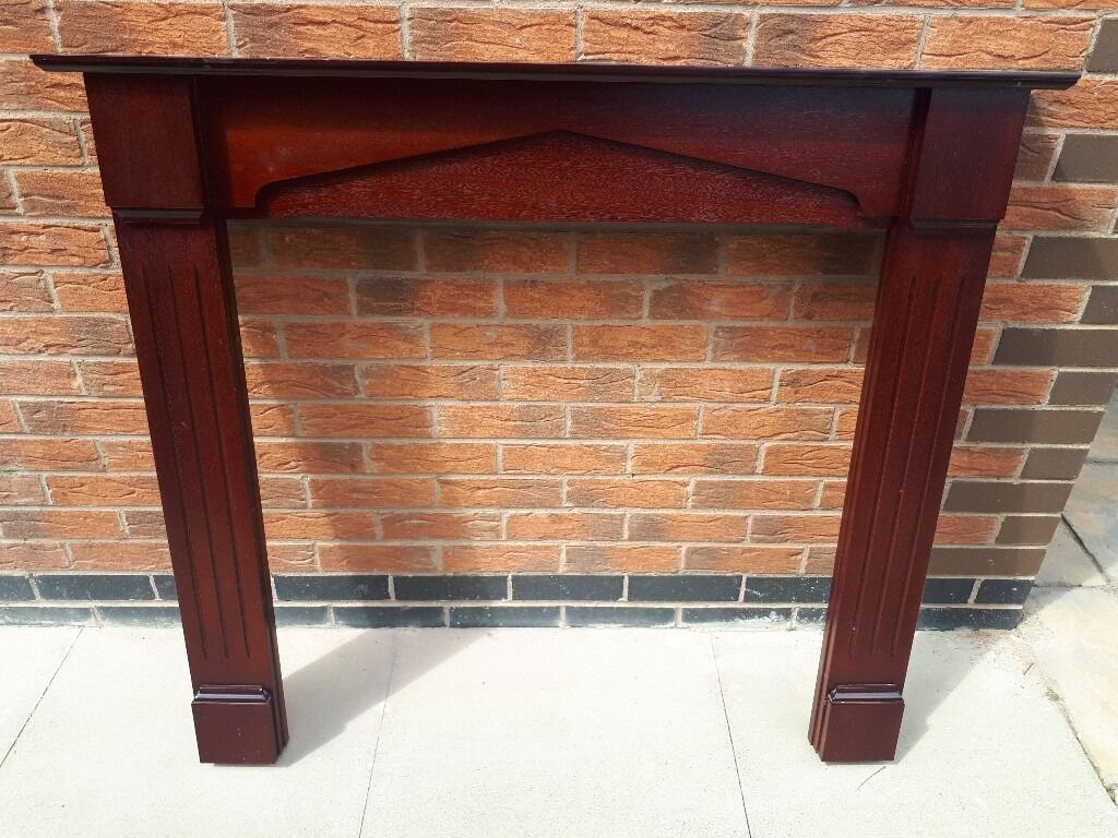 mdf wooden fireplace surround in hinckley leicestershire gumtree