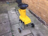 Alko 1600w Garden Shredder In Good Condition Works Perfectly