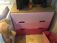 Two pieces girls bedroom furniture