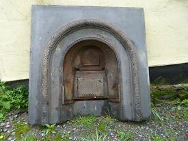 "Cast iron fireplace, 36""x 36"""