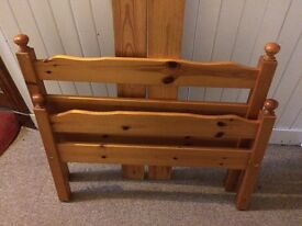 Single Pine wood bed frame
