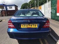 2007 (07 reg) Mercedes-Benz C Class 2.1 C220 CDI Elegance SE 4dr Turbo Diesel Automatic Low Miles
