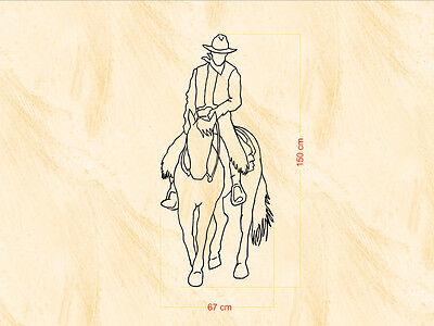 Western & Country Tattoo - Reiter 67x150 cm - Wand-, Fenster-, Möbel- Tattoo