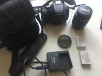 Canon 600D (camera, lens, 2xbattery, Hoya filter and bag)