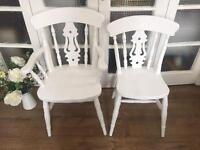 SHABBY CHIC SOLID WOOD CHAIRS FREE DELIVERY LDN🇬🇧no table