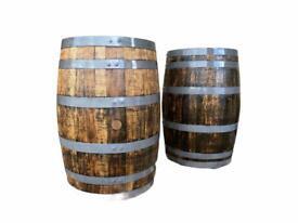 Fully refurbished oak barrels