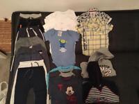 Boys clothes and shoes bundle.