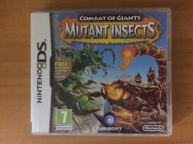Combat of Giants: Mutant Insects DS game