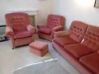 Three piece suite in good condition.