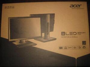 """Acer 21.5"""" LED Full HD Display Monitor. Built-in Speaker. Wall Mountable. DVI. VGA. Tilt. Swivel. NEW. Sealed. Warranty"""