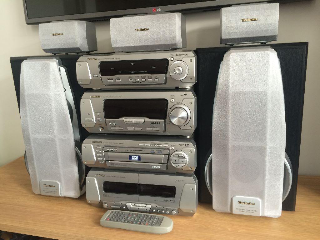 Technics Sc Dv290 Dvd Cd Home Cinema Stereo System With