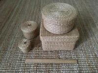 Sea grass storage basket set