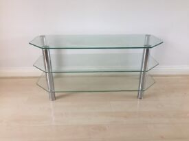Large glass TV and media stand