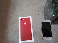 Red iphone7 128gb