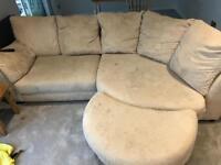 Sofa and chair cream