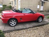 1998 MG MGF RED 11 Months Mot With Part Service History LOW MILEAGE