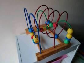Ikea mule wooden bead rollercoaster