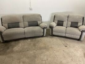 Grey 3&2 seater recliner sofas, couches, furniture 🚛🚛🚚