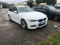 2014 14reg 320D M-Sport Estate White Fully Loaded 1 owner