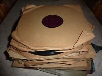 Collection of 120+ old vinyl records 78s