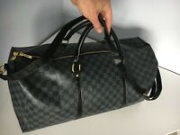 Louis Vuitton Large Travel Duffel Cross Body Top Handle Bag Unisex