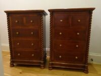 Pair of Living or Bedroom Chest of Drawers