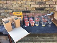 Glasses - Vintage Beer Garden Beer etc