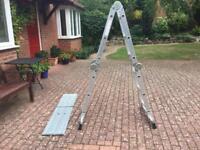 Multi-purpose aluminium ladder with platform boards