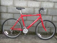 mens red bike raleigh 26''