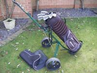 Howson Golf Bag, Trolly, Clubs,Balls, Ideal Starter,