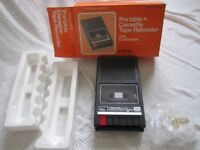 Brand new VINTAGE Realistic portable Cassette Tape Recorder with cue review CTR-60 and pristine