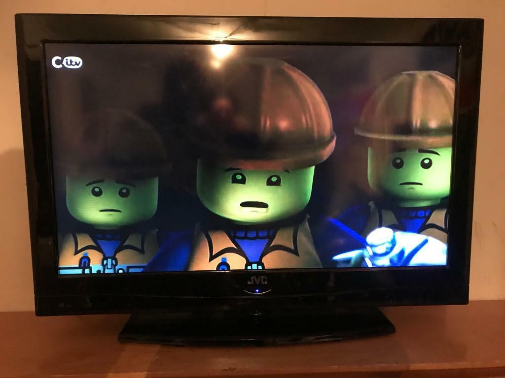 """32"""" jvc led lcd hd tv with usb multi media player hd freeview hdmi's remote  and wall bracket   in Worsley, Manchester   Gumtree"""