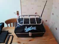 us custom large topbox with chrome rack and antenna and fittings