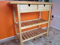 Ikea solid pine kitchen workstation