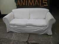Sofa washable covers white has patterned base underneath delivery available £10